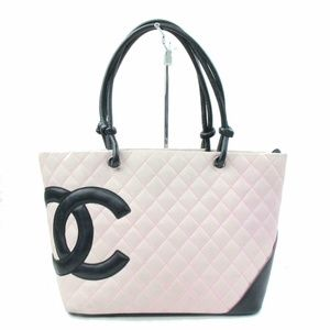 Auth Chanel Pink Leather Tote Bag #1093C40